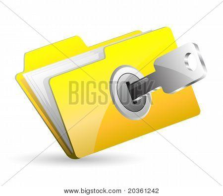 Поставить пароль на папку