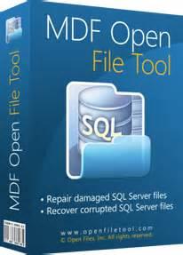 Как открыть файл mdf